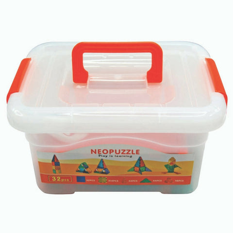 NeoPuzzle Magnetic Tiles - 32 Piece Set | KidzInc Australia | Online Educational Toy Store