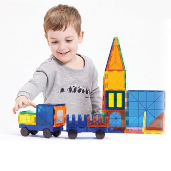 NeoPuzzle Magnetic Tiles - 74 Piece Set | KidzInc Australia | Online Educational Toy Store