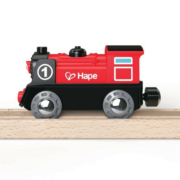 Hape - Battery Powered Engine No 1 Wooden Train | KidzInc Australia | Online Educational Toy Store