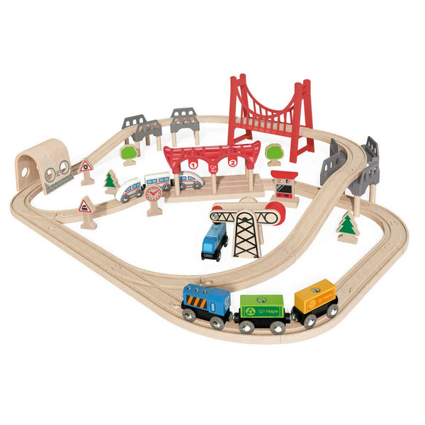 Hape - Railway Double Loop Train Set | KidzInc Australia | Online Educational Toy Store