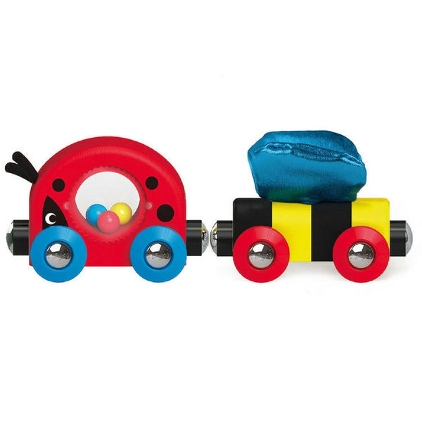 Hape - Railway Lucky Ladybug and Friends Train | KidzInc Australia | Online Educational Toy Store