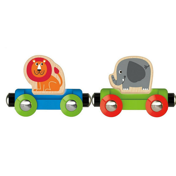 Hape - Railway Jungle Journey Train | KidzInc Australia | Online Educational Toy Store