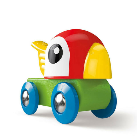 Hape - Railway Whistling Parrot Train Engine | KidzInc Australia | Online Educational Toy Store