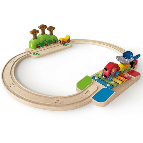 Hape - My Little Railway Train Set | KidzInc Australia | Online Educational Toy Store