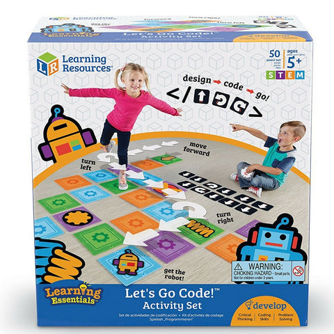 Learning Resources - Coding Buddies Let's Go Code! Activity Set, 50 Pieces | KidzInc Australia | Online Educational Toy Store