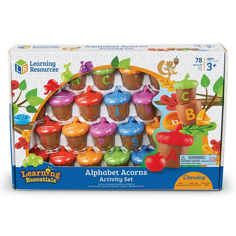 Learning Resources - Alphabet Acorns Activity Set | KidzInc Australia | Online Educational Toy Store