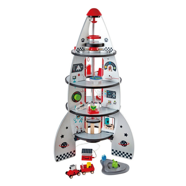 Hape - Four Stage Rocket Ship | KidzInc Australia | Online Educational Toy Store