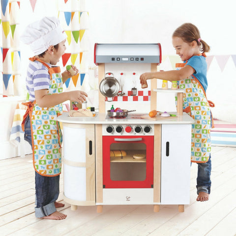 Hape - Multi Function Wooden Kitchen | KidzInc Australia | Online Educational Toy Store
