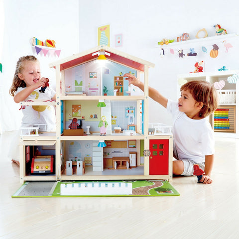 Hape - Doll Family Mansion | KidzInc Australia | Online Educational Toy Store