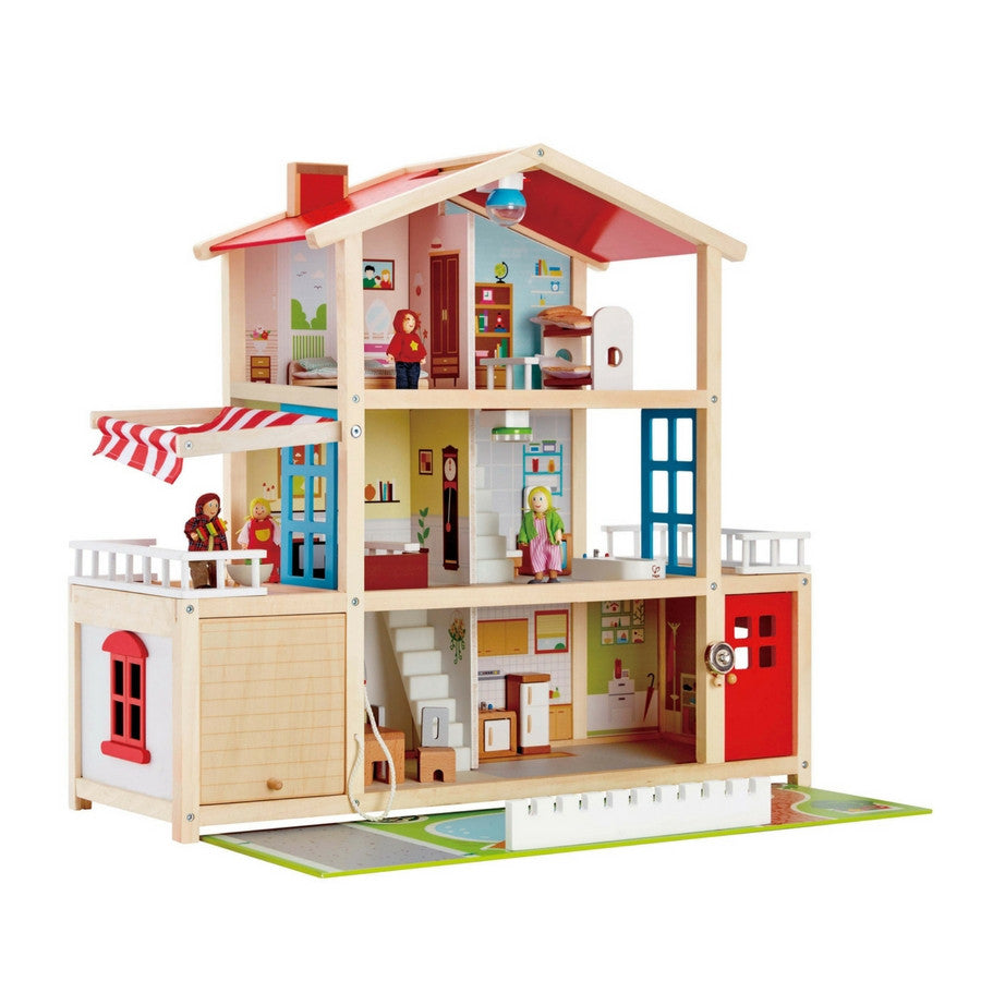 Hape Doll Family Wooden Doll House Mansion Kidzinc Australia