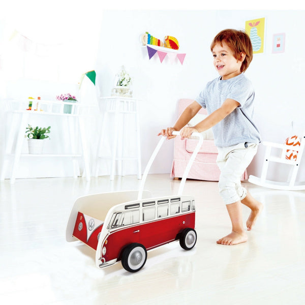Hape - Classical Bus T1 Baby Walker (Red) | KidzInc Australia | Online Educational Toy Store