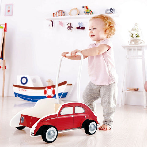 Hape - Beetle Wooden Walker (Red) | KidzInc Australia | Online Educational Toy Store