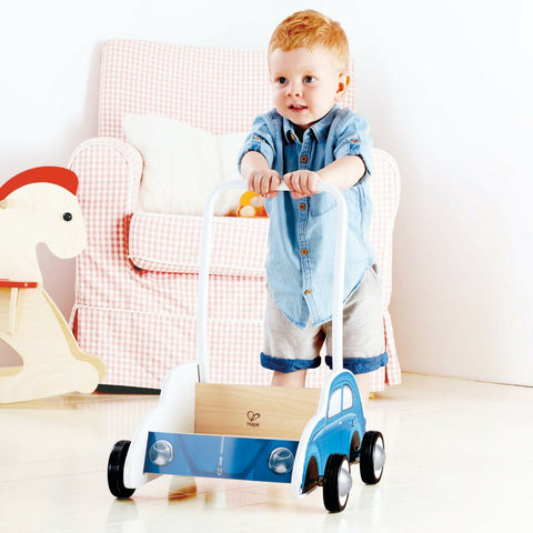 Hape - Beetle Wooden Walker (Blue) | KidzInc Australia | Online Educational Toy Store