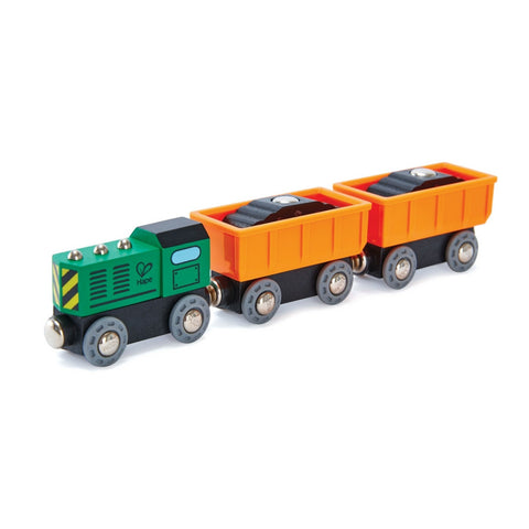 Hape - Railway Diesel Freight Train | KidzInc Australia | Online Educational Toy Store