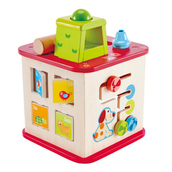 Hape - Pepe and Friends: Friendship Activity Cube | KidzInc Australia | Online Educational Toy Store