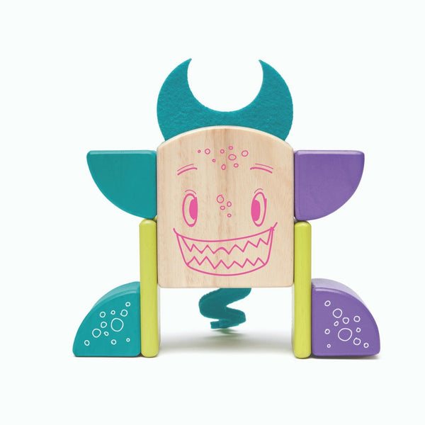 Tegu - Sticky Monsters Pip 8 Pieces | KidzInc Australia | Online Educational Toy Store