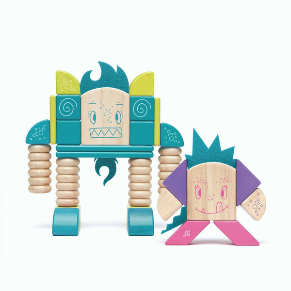 Tegu - Sticky Monsters Beans and Tum Tum 30 Pieces | KidzInc Australia | Online Educational Toy Store