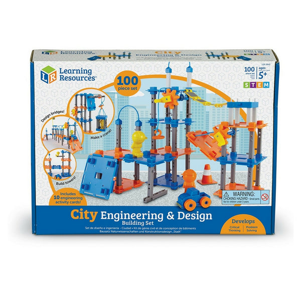 Learning Resources - City Engineering and Design Building STEM Set | KidzInc Australia | Online Educational Toy Store