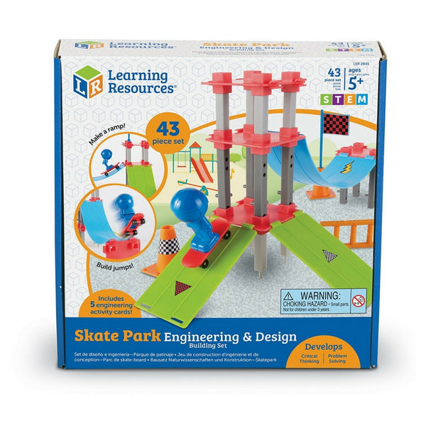 Learning Resources - Skate Park Engineering and Design Building STEM Set | KidzInc Australia | Online Educational Toy Store
