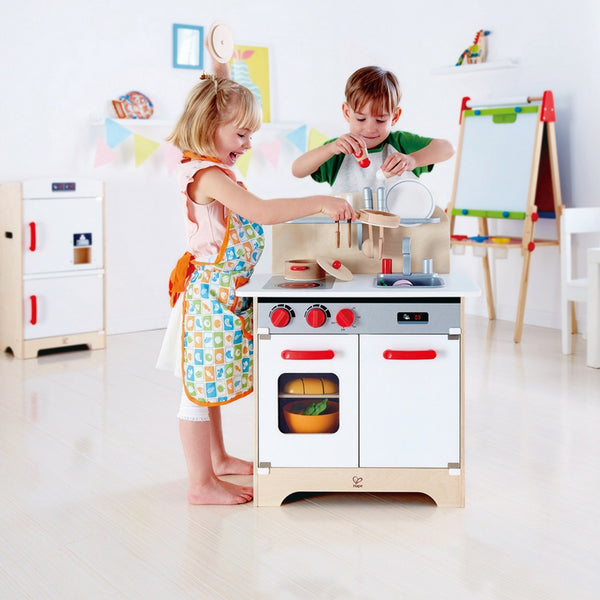 Hape - White Gourmet Kitchen | KidzInc Australia | Online Educational Toy Store