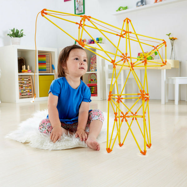 Hape Flexistix Truss Crane, STEM Building Set | KidzInc Australia | Online Educational Toys