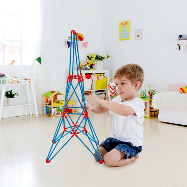 Hape Flexistix Eiffel Tower, STEM Building Set (62 Pieces) | KidzInc Australia | Online Educational Toys
