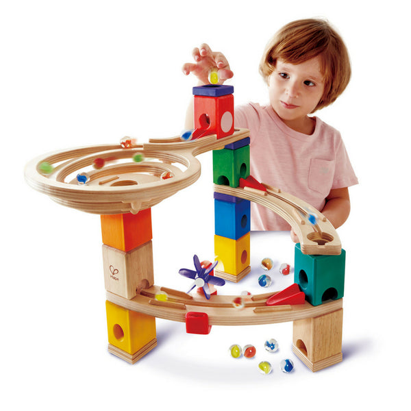 Hape Quadrilla Marble Run: Race To The Finish | KidzInc Australia