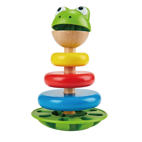 Hape Mr Frog Stacking Rings Stacking Toy| KidzInc Australia | Educational Toys Online