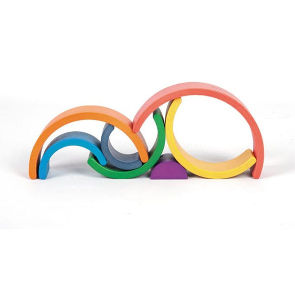 TickiT Rainbow Architect Arches Wooden Blocks | KidzInc Australia | Online Educational Toys 4
