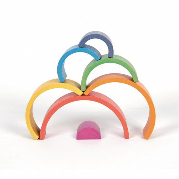 TickiT Rainbow Architect Arches Wooden Blocks | KidzInc Australia | Online Educational Toys 5