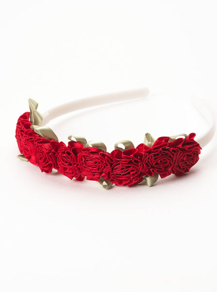Little Adventures - Flower Headband Red | KidzInc Australia | Online Educational Toy Store