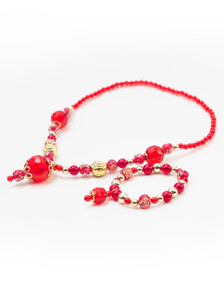 Little Adventures - Princess Jewellery Red/Gold Set | KidzInc Australia | Online Educational Toy Store