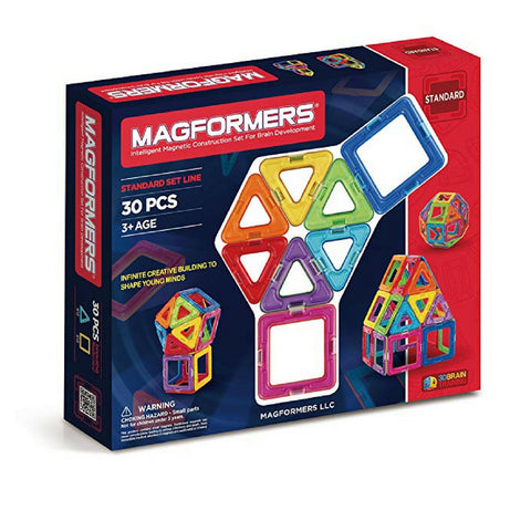 Magformers Basic Set 30 pieces | Magnetic building block | KidzInc Australia