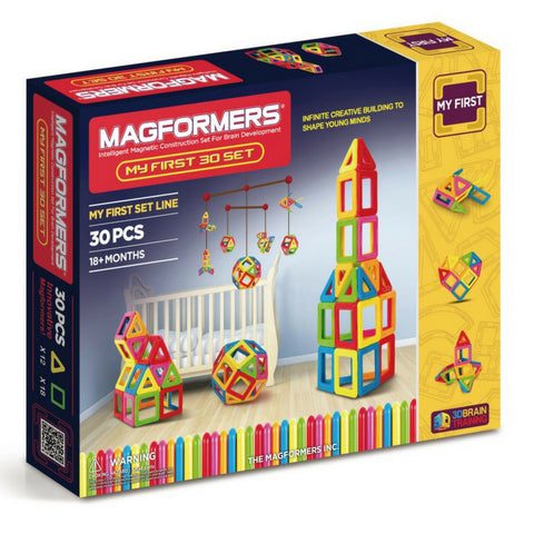 Magformers My First Set 30 Pieces | Magnetic Tiles | KidzInc Australia