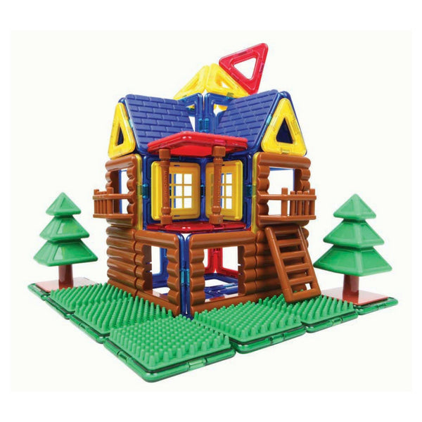 Magformers Log House Set 87 Pieces |Magnetic Construction Toy| KidzInc 4