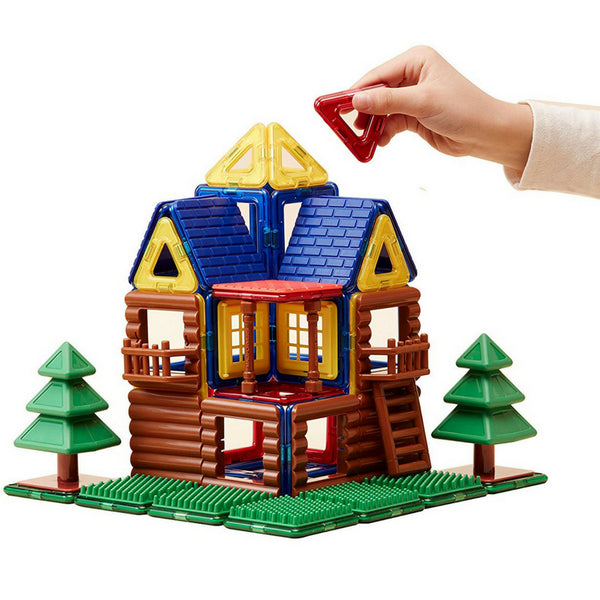 Magformers Log House Set 87 Pieces |Magnetic Construction Toy| KidzInc 3