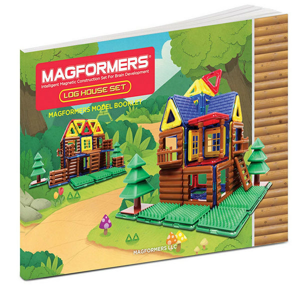 Magformers Log House Set 87 Pieces |Magnetic Construction Toy| KidzInc 6