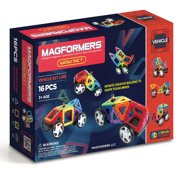 Magformers Vehicles WOW Set 16 Pc | Magnetic Tiles | KidzInc Australia