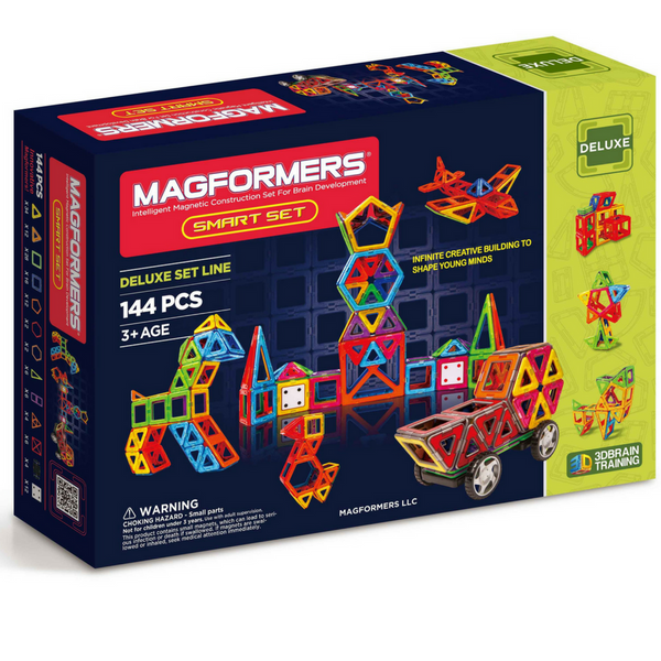 Magformers Deluxe Smart Set 144 Pc |  STEM Toys | KidzInc Australia