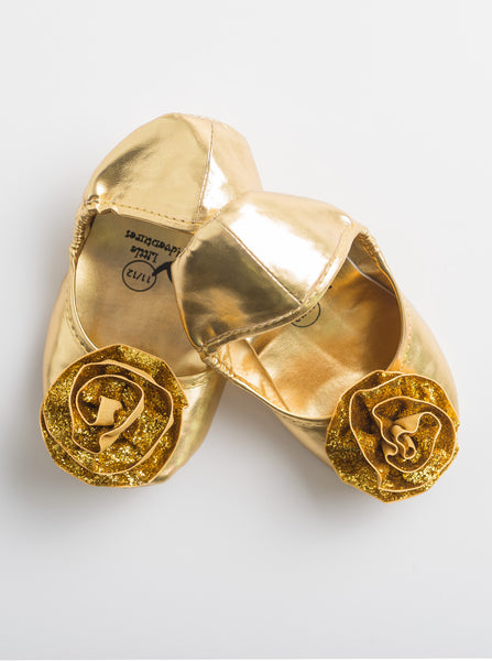 Little Adventures - Gold Princess Shoes | KidzInc Australia | Online Educational Toy Store