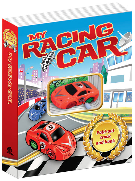 Five Mile Press - My Racing Car Fold-Out Book and Track | KidzInc Australia | Online Educational Toy Store
