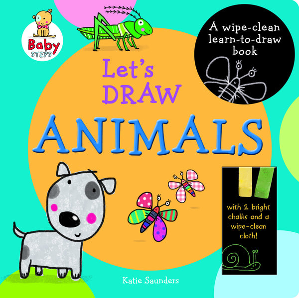 Five Mile Press -  Let's Draw Animals Wipe-clean Chalk Book | KidzInc Australia | Online Educational Toy Store