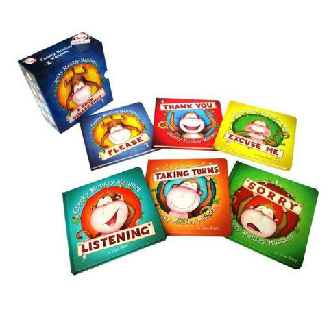 Cheeky Monkey Manners Slipcase of 6 Books | KidzInc Australia | Online Educational Toy Store