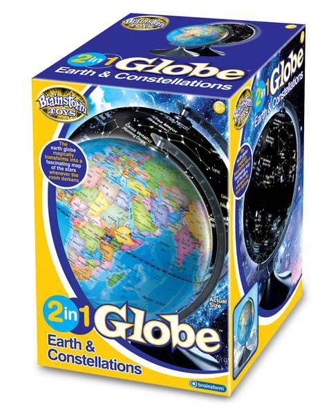 Brainstorm Toys - 2 in 1 Globe Earth and Constellations | KidzInc Australia | Online Educational Toy Store