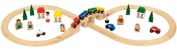 Bigjigs - Figure of Eight Train Set - 40 pieces | KidzInc Australia | Online Educational Toy Store