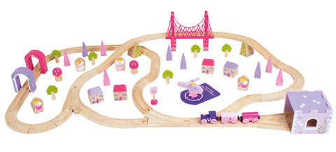 Bigjigs - Fairy Town Train Set - 75 pieces | KidzInc Australia | Online Educational Toy Store