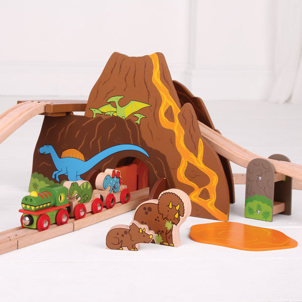 Bigjigs - Dinosaur Train Set | KidzInc Australia | Online Educational Toy Store