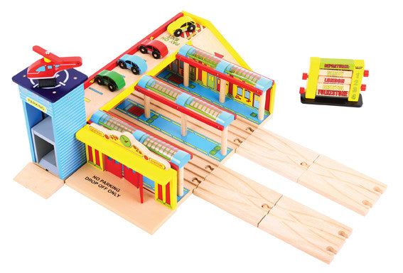 Bigjigs - Grand Central Station | KidzInc Australia | Online Educational Toy Store