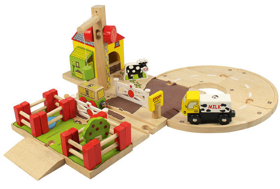 Bigjigs - Farmyard Crossing | KidzInc Australia | Online Educational Toy Store