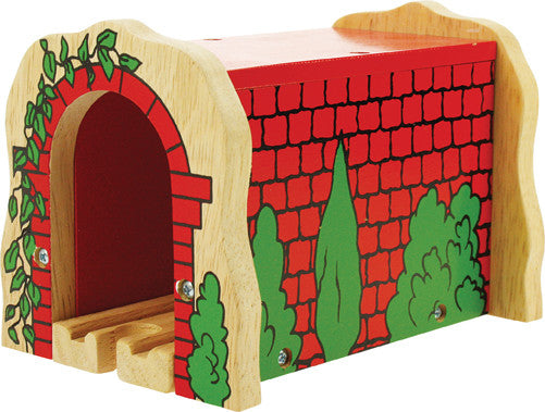 Bigjigs - Red Brick Tunnel | KidzInc Australia | Online Educational Toy Store